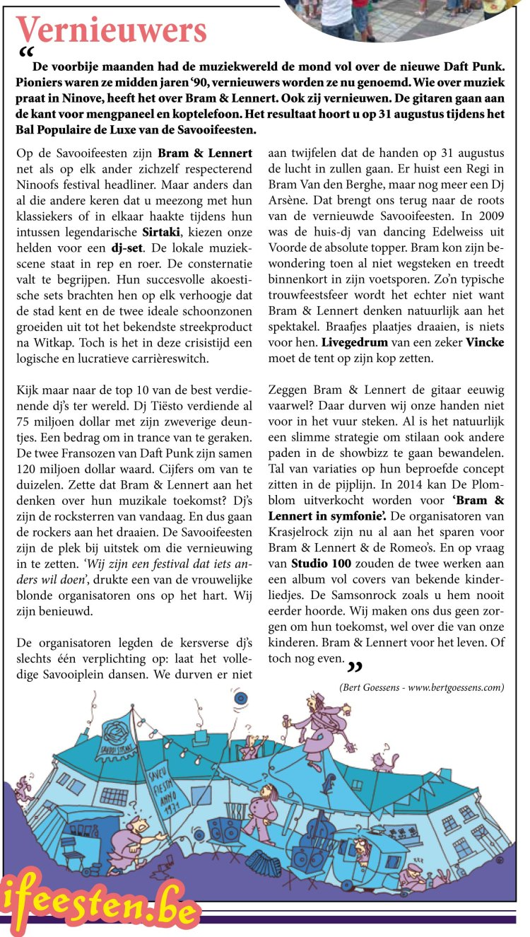 Savooikrant 2013-column